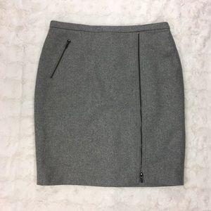 J. Crew Zip Pencil Skirt in Wool Size 12